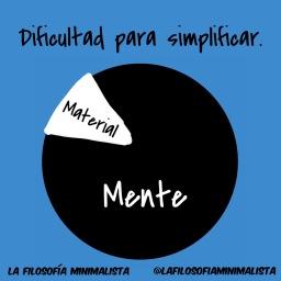 La simplificación en el mundo material y mental.